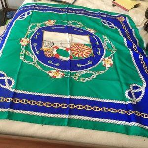 Blue and green fendi scarf